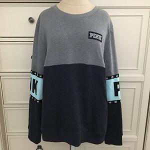 PINK Victoria's Secret Color Block Crew Sweatshirt